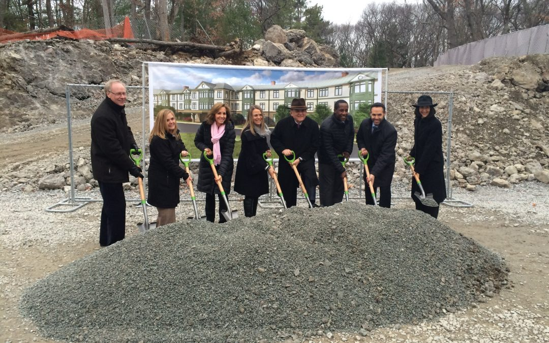 Nauset breaks ground at The Residences at Kesseler Woods in Newton, MA. The project includes 88 residential units with 13 marked as affordable units.